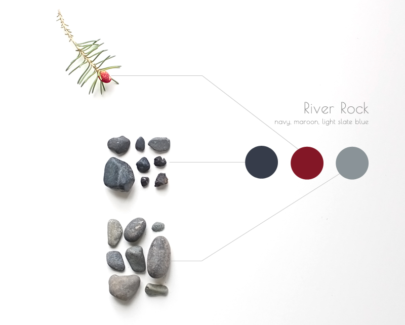 river rock inspires color palette
