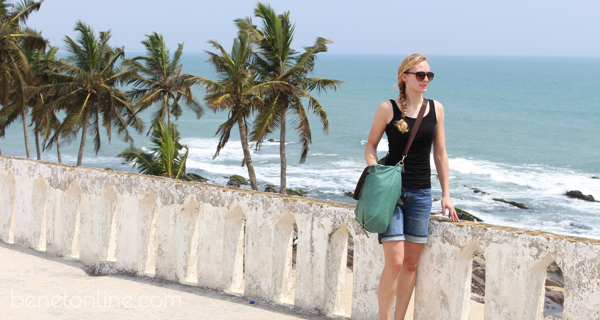 Overlooking the Ocean & Palm Trees from elmina