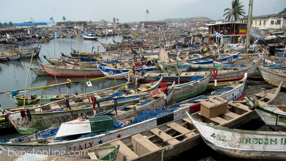 Elmina Fishing Village Ghana Africa