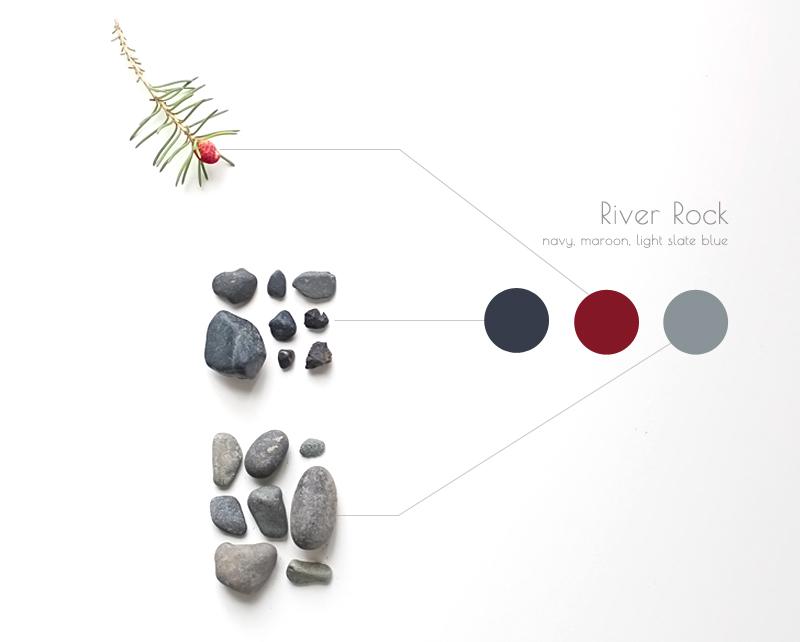 river rock inspires color palette